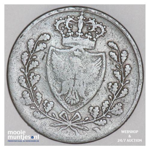 5 centesimi - mainland reform coinage - Italian States/Sardinia 1826 P (KM 127.1