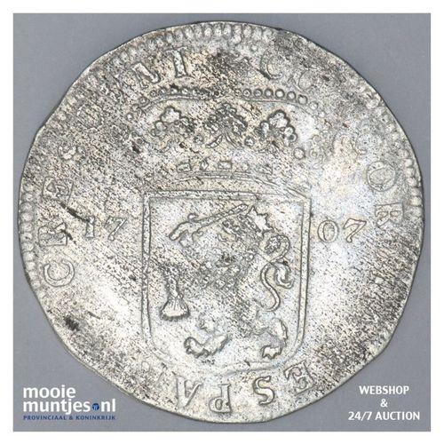 Gelderland - Zilveren dukaat - 1707 (kant A)