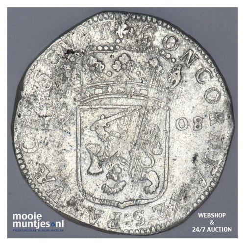 Gelderland - Zilveren dukaat - 1708 over 07 (kant A)
