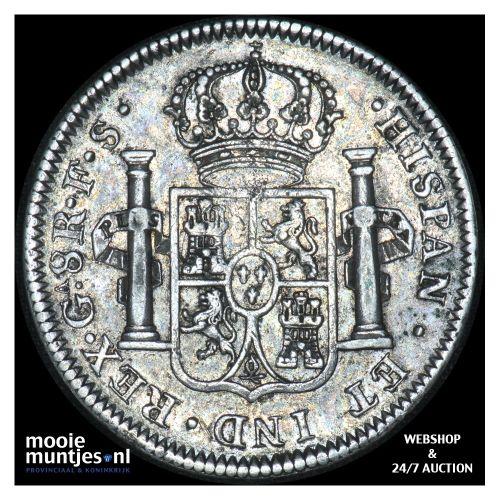 8 reales - Mexico/War of Independence-Guadalajara 1818 FS (KM 111.3) (kant B)