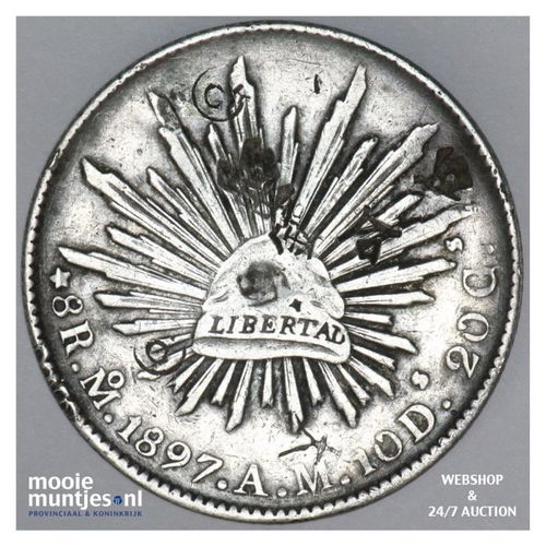 8 reales - Mexico/First Republic 1897 Mo AM (KM 377.10) (kant A)