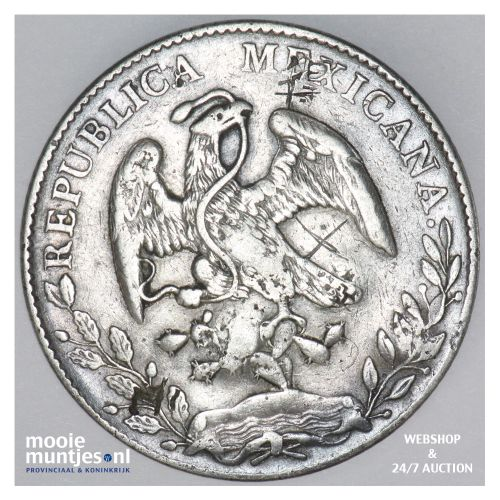 8 reales - Mexico/First Republic 1897 Mo AM (KM 377.10) (kant B)