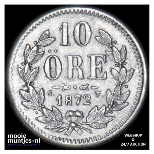 10 ore - Sweden 1872 (KM 727) (kant A)