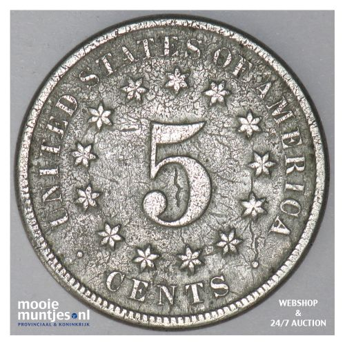 5 cents - shield nickel - United States of America/Circulation coinage 1874 (KM
