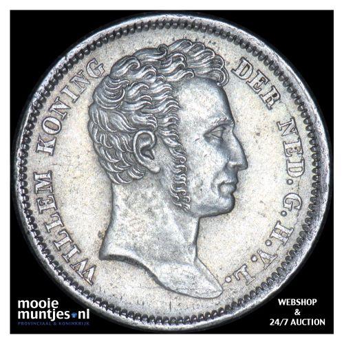 Nederlands-Indië - ¼ gulden - 1840 (kant B)