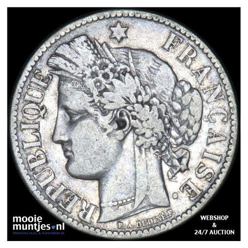 2 francs - France 1881 A (Paris) (KM 817.1) (kant B)