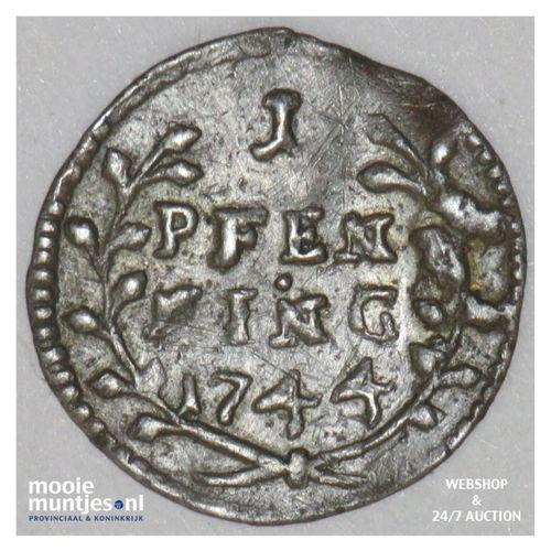 pfennig - German States/Fulda 1744 (KM 85) (kant A)