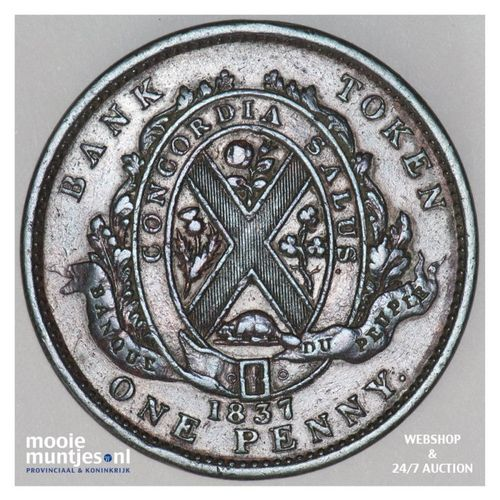 2 sous (penny) - Canada/Lower Canada 1837 (KM Tn12) (kant A)