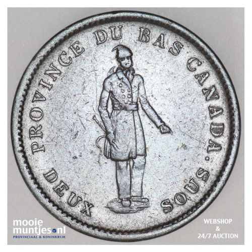 2 sous (penny) - Canada/Lower Canada 1837 (KM Tn12) (kant B)