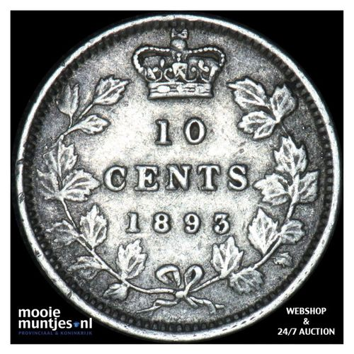 10 cents - Canada 1893 (flat top 3) (KM 3) (kant A)