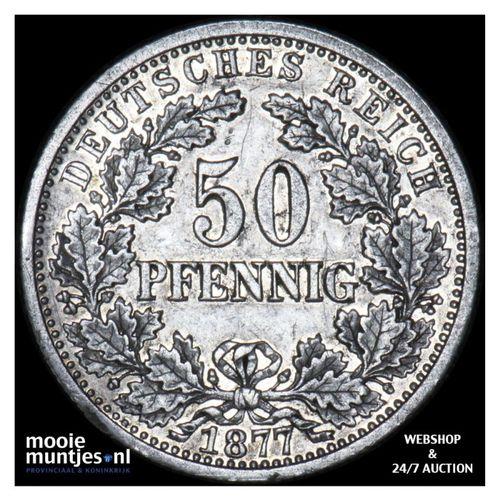 50 pfennig - Germany 1877 E (KM 8) (kant A)