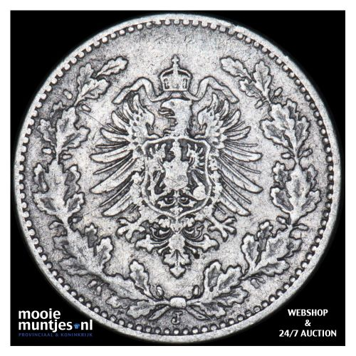 50 pfennig - Germany 1877 J (KM 8) (kant B)
