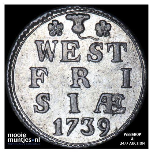 West-Friesland - Duit - 1739 (kant A)