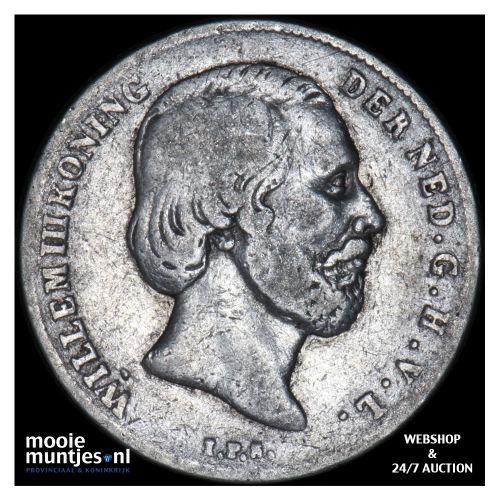 ½ gulden - Willem III - 1859 (kant B)