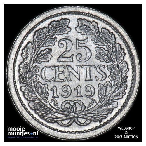 25 cent - Wilhelmina - 1919 (kant A)