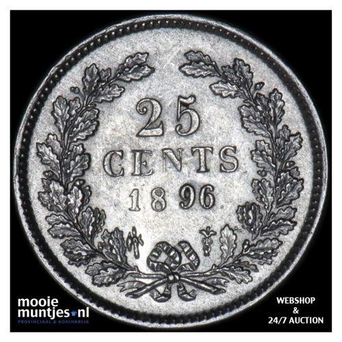 25 cent - Wilhelmina - 1896 (kant A)