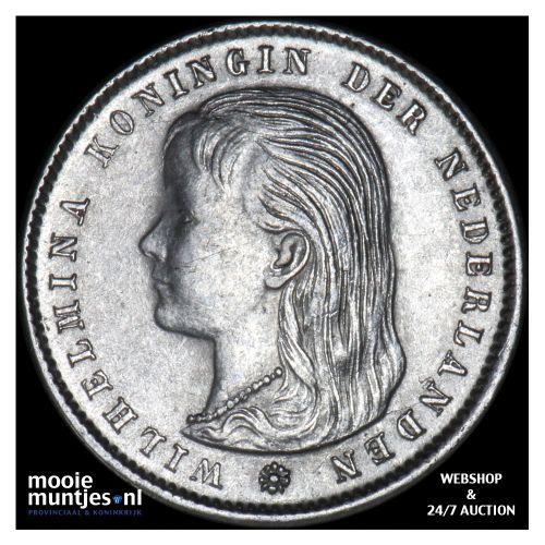 25 cent - Wilhelmina - 1896 (kant B)