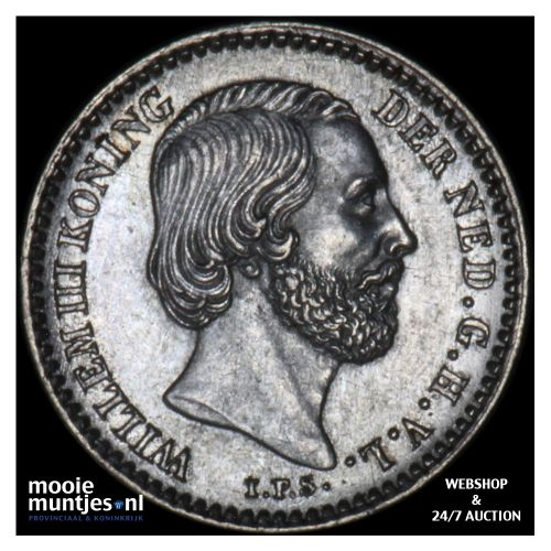 10 cent - Willem III - 1859 (kant B)