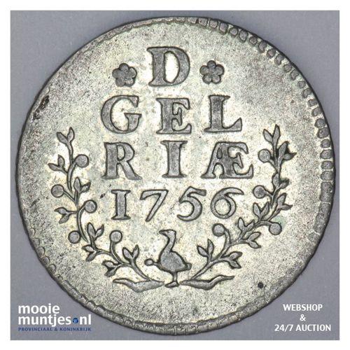 Gelderland - Duit - 1756 (kant A)