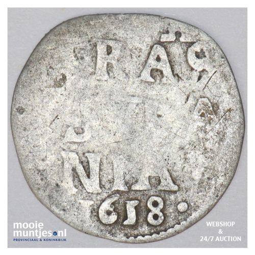 Overijssel - Dubbele stuiver - 1618 (kant A)