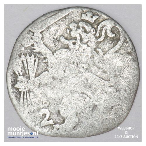 Overijssel - Dubbele stuiver - 1618 (kant B)