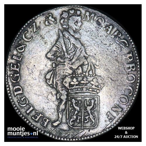 Gelderland - Zilveren dukaat - 1738 (kant B)