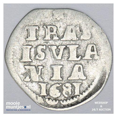 Overijssel - Dubbele stuiver - 1681 (kant A)