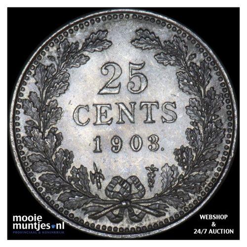 25 cent - Wilhelmina - 1903 (kant A)