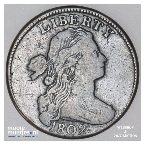 cent - draped bust - United States of America/Circulation coinage 1802 (KM 22) (