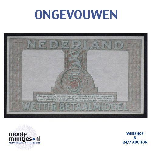 5 gulden - 1944 (Mev. 22-1c / AV 17) (kant B)