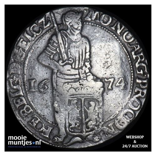 Gelderland - Zilveren dukaat - 1674 (kant A)