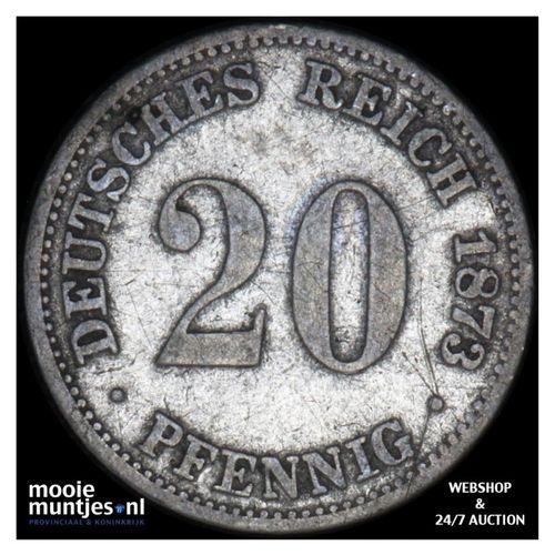 20 pfennig - Germany 1873 B (KM 5) (kant A)