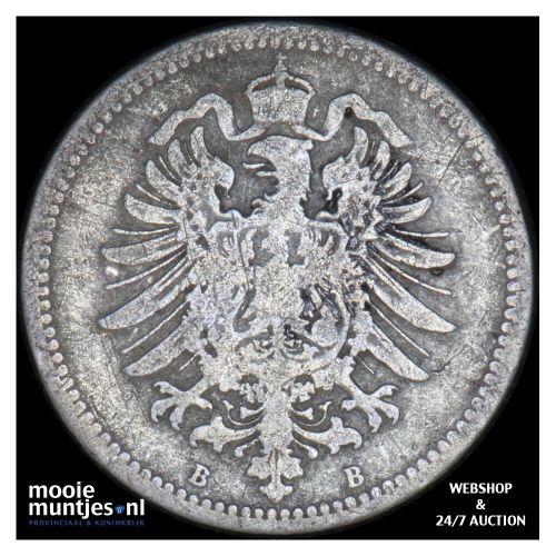 20 pfennig - Germany 1873 B (KM 5) (kant B)