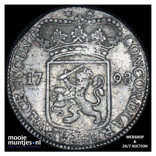 Zeeland - Zilveren dukaat - 1798 over 96 (kant A)