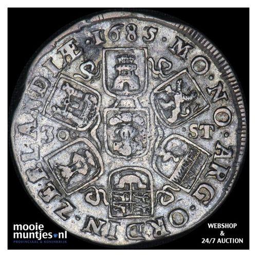 Zeeland - Daalder van 30 stuiver - 1685 over 83 (kant A)