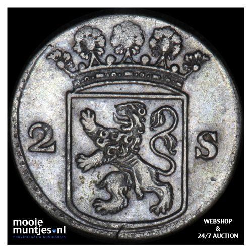 Holland - Dubbele wapenstuiver - 1760 (kant B)