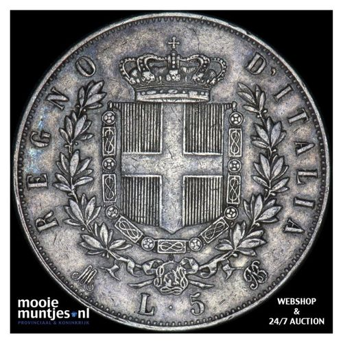 5 lire - Italy 1875 (KM 8.3) (kant A)