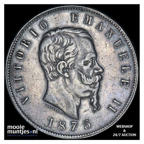 5 lire - Italy 1875 (KM 8.3) (kant B)