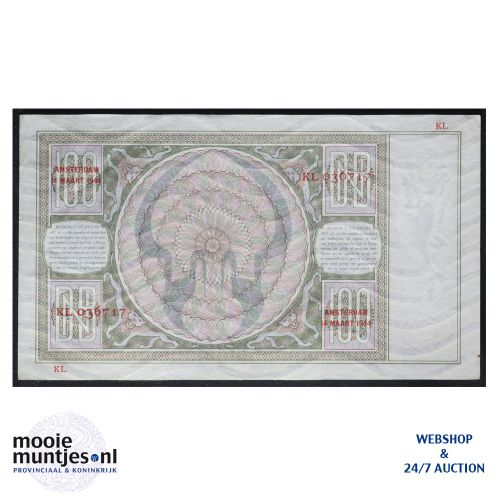 100 gulden - 1930 (Mev. 117-5 / AV 81) (kant B)