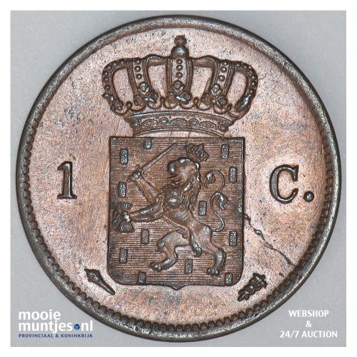 1 cent - Willem I - 1837 (kant B)