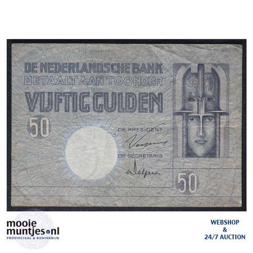 50 gulden - 1929 (Mev. 96-1a / AV 64) (kant A)