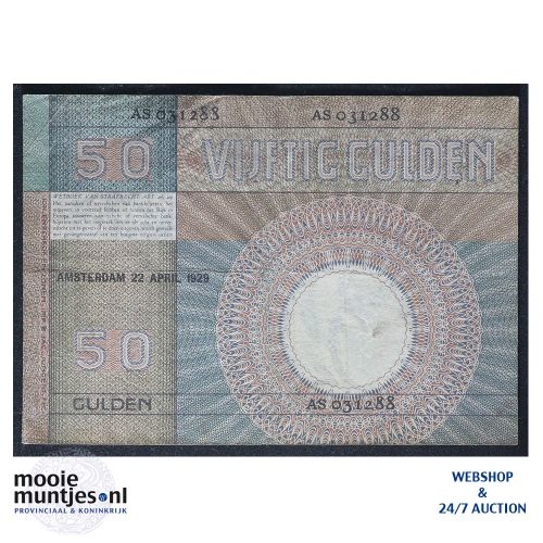 50 gulden - 1929 (Mev. 96-1a / AV 64) (kant B)