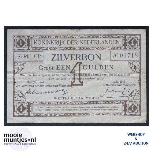 1 gulden - 1916 (Mev. 02-1b / AV 2) (kant A)
