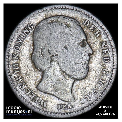 25 cent - Willem III - 1850 (kant B)