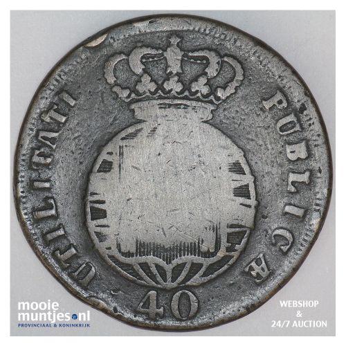 40 reis (pataco) - Portugal 1823 (KM 370) (kant B)