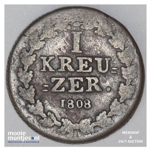 kreuzer - joint coinage - German States/Nassau 1808 (KM 10) (kant A)