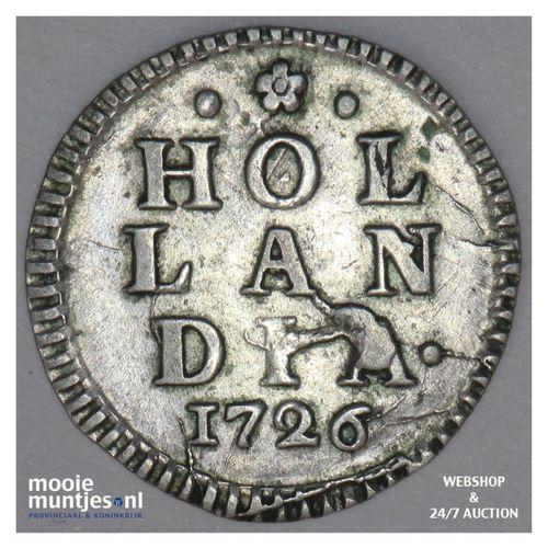 Holland - Wapenstuiver - 1726 (kant A)