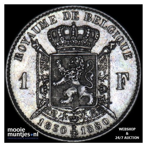franc - Belgium 1880 (KM 38) (kant A)