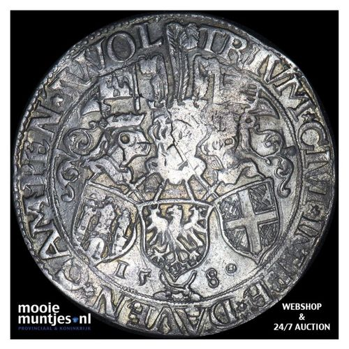 Driesteden - Gehelmde rijksdaalder   - 1580 (kant A)