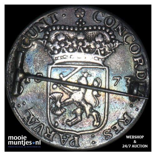 Zeeland - Halve zilveren dukaat - 1673 (kant A)